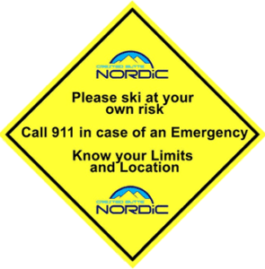 Crested Butte Nordic Safety Sticker