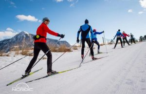 Nordic skiers in crested butte
